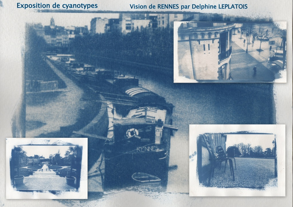 Affiche exposition CYANOTYPES RENNES