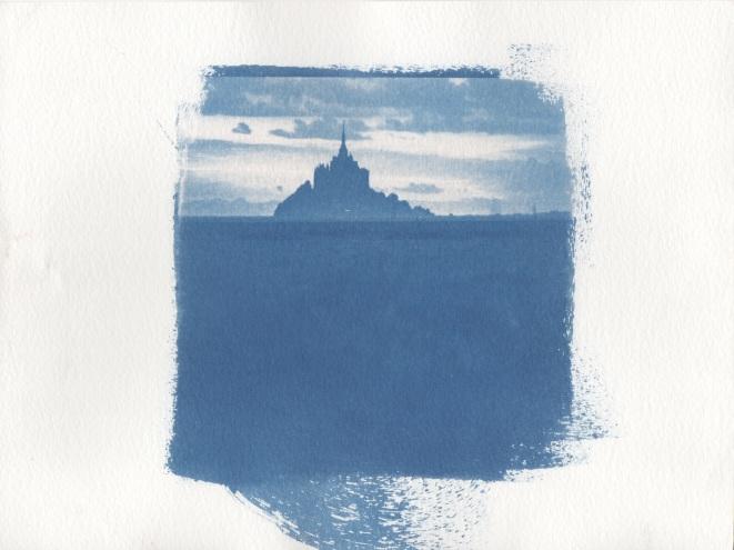 Cyanotype - Paysages_Baie du Mont St Michel