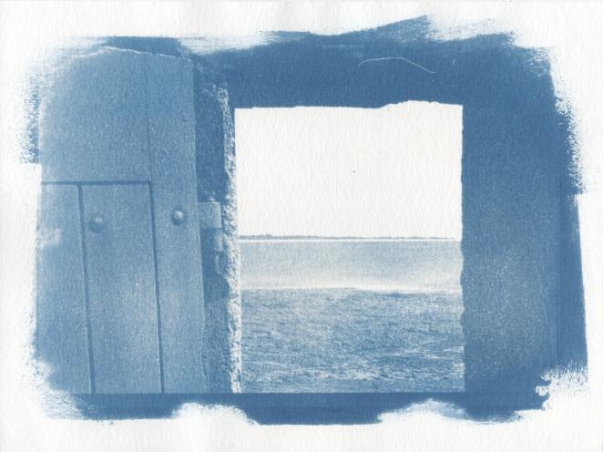 Cyanotype - Paysages_Fenêtre sur la mer