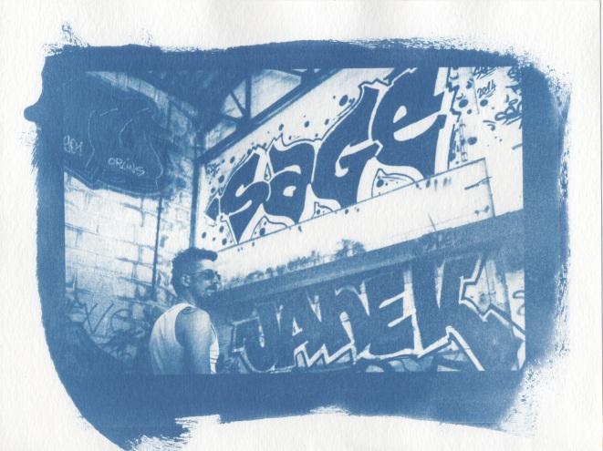 Cyanotype - Portrait_Sage