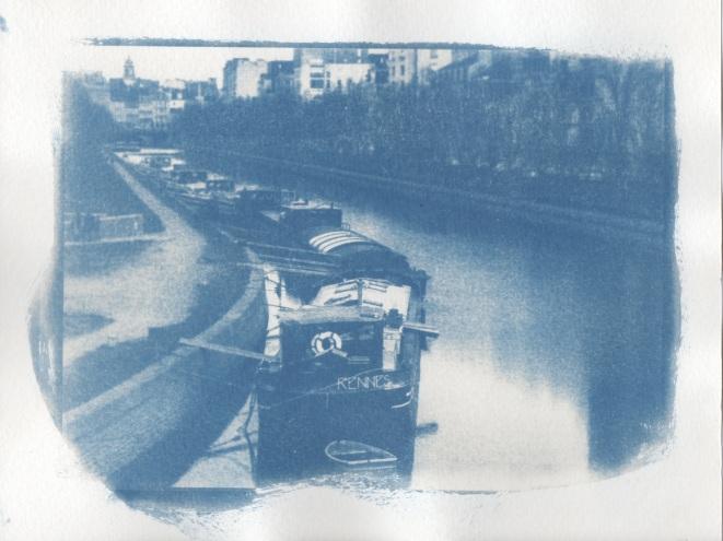 Cyanotype - Rennes_Péniches Quai St Cyr