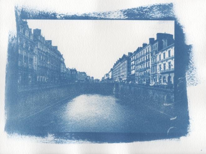 Cyanotype - Rennes_Quais Chateaubriand et Emile Zola