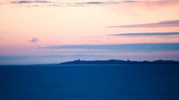 Vue sur les îles Chausey
