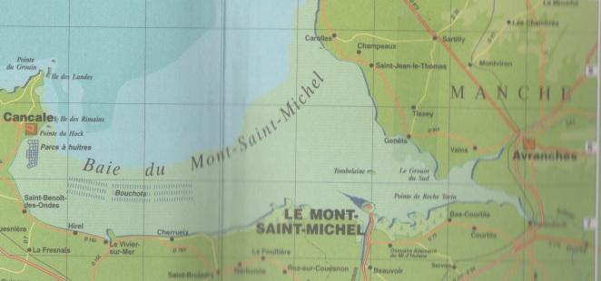 Carte de la Baie